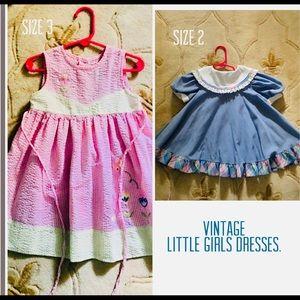 Vintage, Dresses, little girls, size2 & size3